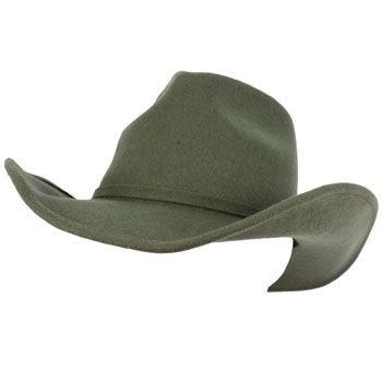 Unisex Winter Big Classic 100% Wool Felt Western Cowboy Curled Brim Hat Gray