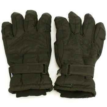 Boy Age 10-12 Winter Thinsulate 3M Waterproof Velcro Ski Snow Grip Gloves Black