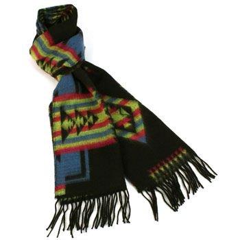 Unisex Winter Softer Than Cashmere? Warm Ski Snow Scarf Shawl Fringe Aztec Black