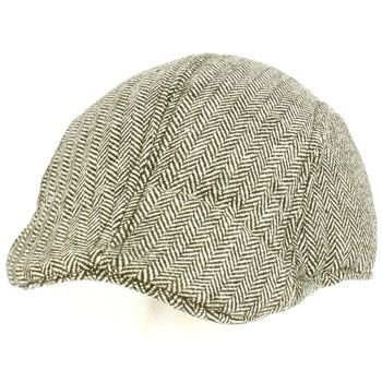 Men's Wool Blend Winter Duck Bill Ivy Cabby Driver Herringbone Hat Cap Black M/L