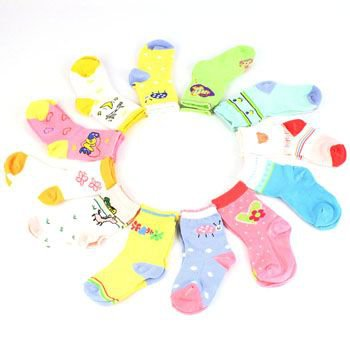 Baby Infant Girl Age 6-9 months Cotton 12 Pairs Crew Mid Calf Socks Mix Size 2-4