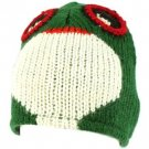 100% Wool Nepal Winter Swamp Monster Animal Fleece Lined Beanie Ski Cap Hat
