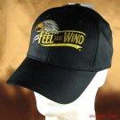 Feel the Wind, EAGLE COTTON POLY BASEBALL CAP BLACK ADJ