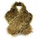 San Diego Hat Co Warm Faux Fake Fur Neck warmer Wrap Scarf Stole Shawl Natural