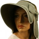 "Compact Summer Wide 5-1/2"" Brim Floppy Visor Roll Up Sun Topless Hat Cap Gray"