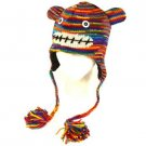 Himalayas Handmade Knit Trooper Ski Hat Rainbow Monkey