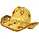 Unisex Light Cool Summer Rodeo Shapeable Wire Cowboy Fedora Trilby Hat 58cm