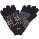 Men's Winter Snowflake Thinsulate 40gram Lined 3M Knit Snow Ski Gloves BlueM/L