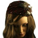 Feather Jewel Sequins Headwrap Headband Head Piece Fascinator Cocktail Cap Wine