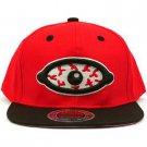 Men's Blood Shot Eye 2 Tone Snapback Adjustable Baseball Ball Cap Hat Red Black
