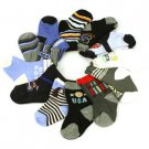 12 Pairs Baby Boys Spring Summer 9-12 month Size 3-4 Crew Mid Calf Socks Set