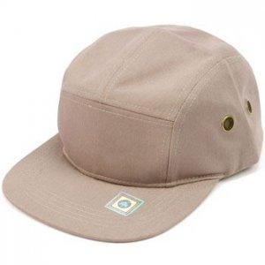 Cotton 5 Panel Solid Biker Snapback Adjustable Leather Cadet Cap Hat Gray