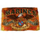 U.S. Marines Defending Freedom Since 1775 American Eagle Flag Pole Flag 3'x 5'
