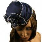 Fancy Lace Top Hat Fascinator  Headband Head Piece Hair Clip Cocktail Navy