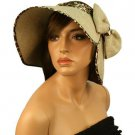 """Rollable Summer Wide 5"""" Brim Floppy Visor Topless Sun Rollable Hat Cap Natural"""