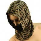 10 in 1 Light Cut Out Summer Cool Scarf Neckwrap Headband Mask Balaclava Beige