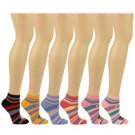 Casual Summer Spring Monkey Face Stripes 6 Pairs Ankle Low Socks Cotton Set