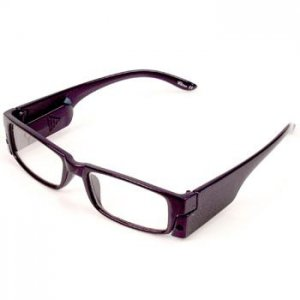 Fun LED Light Up Frame Clear Lens Reading Eye Glasses Eyeglasses Purple + 3.00