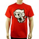 100% Cotton Men's Flying Cartoon Monkey Graphic Tee T Shirt Red M Chest 38""