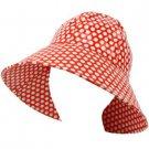 Rain Waterproof Summer Spring Travel Cloche Bucket Wide Sun Hat Cap 57cm Red