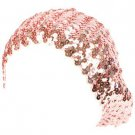 Sequins Tam Stretch Sparkle Shimmer Fun Shiny Beret Beanie Dance Cap Hat Pink