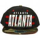Cotton Atlanta Camouflage Snapback Adjustable Baseball Ball Cap Hat Navy Red