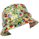 Rain Waterproof Summer Spring Travel Bucket Sun Hat Cap Adjustable 57cm Floral