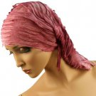 10 in 1 Light Fringe Summer Cool Scarf Neckwrap Headband Mask Balaclava Berry