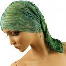 10 in 1 Light Fringe Summer Cool Scarf Neckwrap Headband Mask Balaclava Green