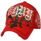 Fleur De Lis Cotton Summer Mesh Trucker Adjustable Back Baseball Cap Hat Red