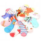 12 Pairs Pastels Baby Girls Newborn Infant 0-6 month Size 1-2 Mid Crew Socks Set