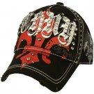 Fleur De Lis Cotton Summer Mesh Trucker Adjustable Back Baseball Cap Hat Black