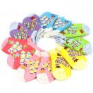12 Pairs Summer Fun Baby Girls Newborn Infant 12 month Size 3-4 Ankle Low Socks