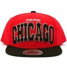 Men's Chicago 2 Tone Snapback Adjustable Summer Baseball Ball Cap Hat Red Black