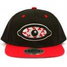 Men's Blood Shot Eye 2 Tone Snapback Adjustable Baseball Ball Cap Hat Black Red