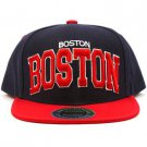 Men's Boston 2 Tone Snapback Adjustable Summer Baseball Ball Cap Hat Navy Red