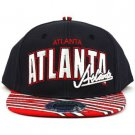 100% Cotton Atlanta Zubaz Snapback Adjustable Baseball Cap Hat Navy Red