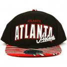100% Cotton Atlanta Zubaz Snapback Adjustable Baseball Cap Hat Black Red