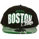 100% Cotton Boston Zubaz Snapback Adjustable Baseball Ball Cap Hat Black Green