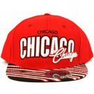 100% Cotton Chicago Zubaz Snapback Adjustable Baseball Ball Cap Hat Red Black