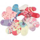 12 Pairs Baby Girls Spring Summer 9-12 month Size 3-4 Crew Mid Calf Socks Set