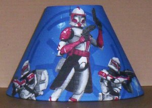 SALE ~ STAR WARS CLONE WARS FABRIC LAMP SHADE lampshade ~SPECIAL~ 6459