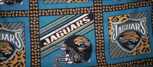 Jacksonville Jaguars Fabric Pillow Panels or Wall Hangings
