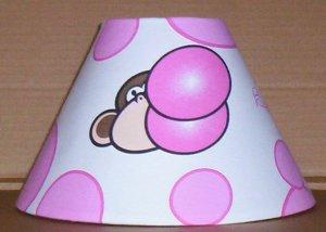 Bobby Jack Monkey Fabric Lampshade lamp shade Bubbles 6459