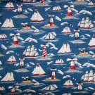 Nautical Lighthouse Ship Fabric 2 1/2 yards