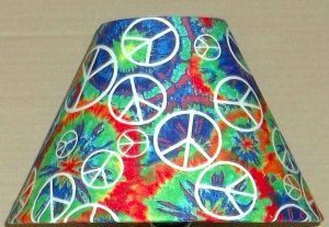 Peace Sign  Fabric Lampshade Lamp Shade PATTERN PAINT SPLASH 6459