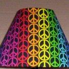 Peace Sign  Fabric Lampshade Lamp Shade RAINBOW PATTERN Style One 6459