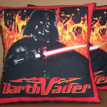 STAR WARS DARTH VADER FABRIC THROW PILLOW COVERS or WALL HANGING - FREE SHIPPING