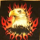 EAGLE WITH FIRE FLAME BANDANA SCARF HANDKERCHIEF