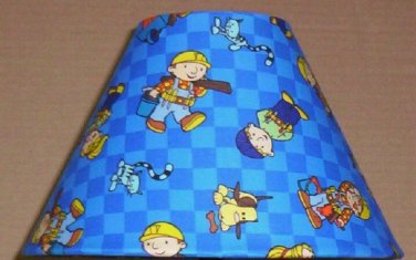 BOB THE BUILDER FABRIC LAMP SHADE lampshade  Construction 6459